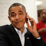 cell phone obama